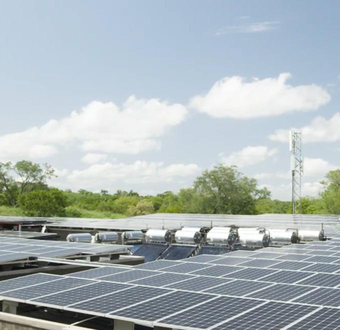 Cheetah Plains Solar Panel Array